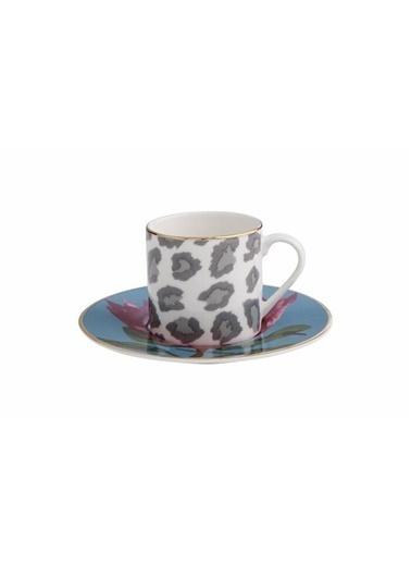 Porland Africa Desen4 Kahve Takımı 4 Parça Renkli